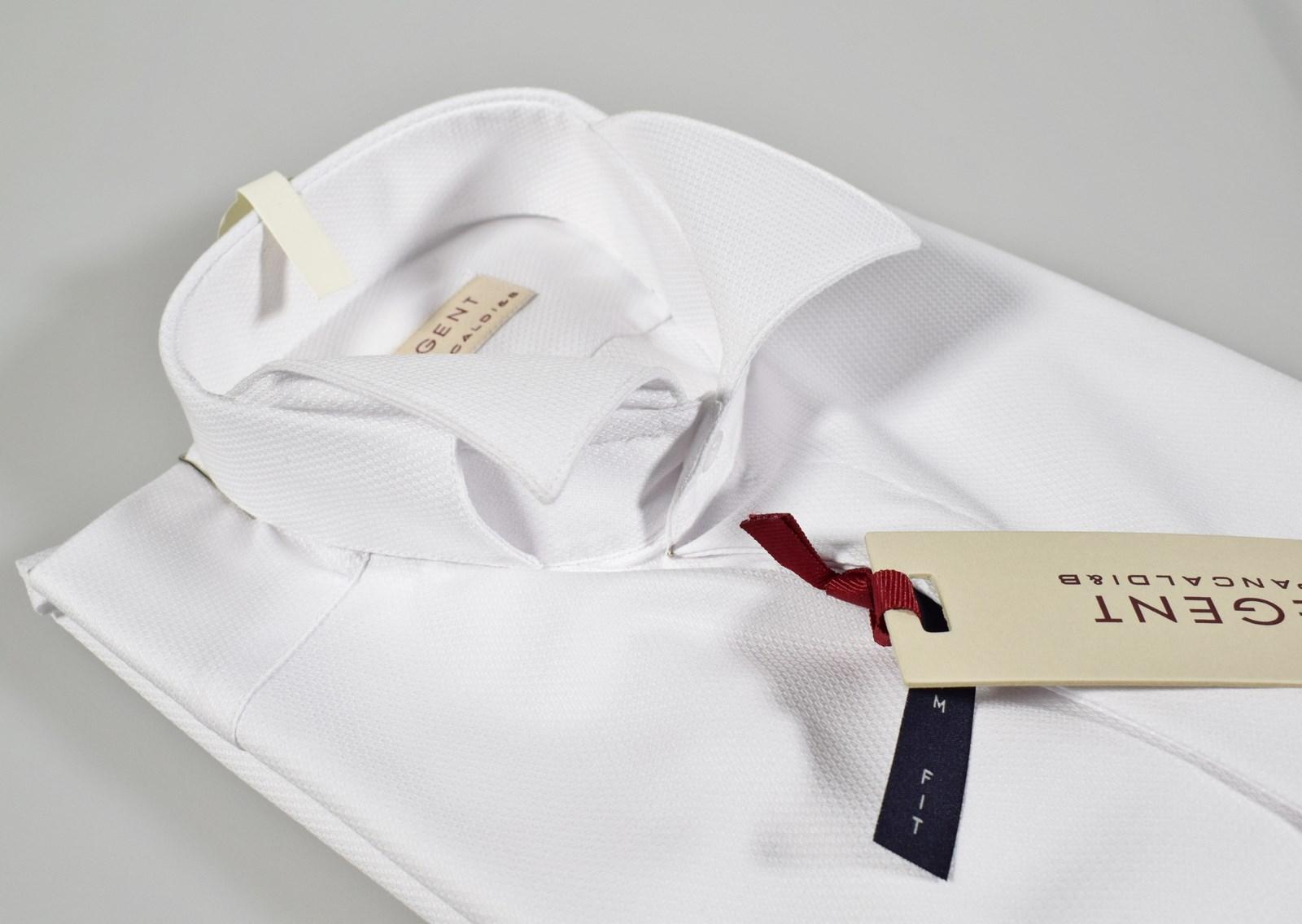 100% authentic 0e7bb c7dd9 Dettagli su Camicia Pancaldi elegante cerimonia uomo collo diplomatico  vestibilità slim fit